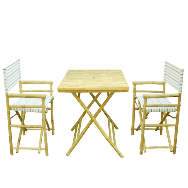 Denning Bamboo 3 Piece Bistro Set by Highland Dunes