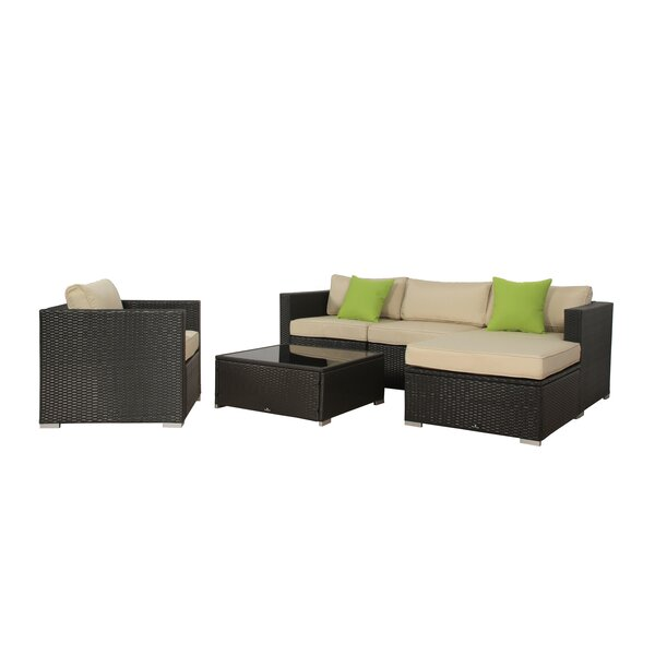 Milliron 6 Piece Rattan Sectional Set with Cushion by Brayden Studio