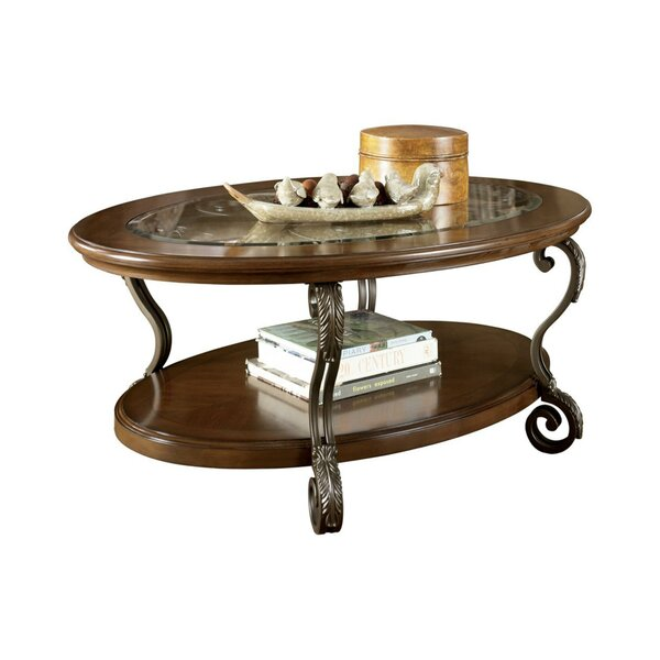 Alviva Floor Shelf Coffee Table With Storage By Fleur De Lis Living