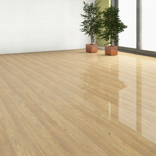 7 x 51 x 9mm Laminate Flooring in Beige by ELESGO Floor USA