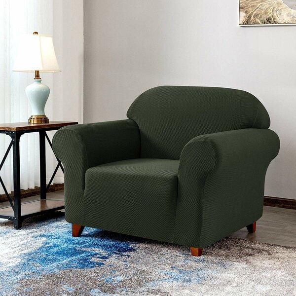 Knit Jacquard Box Cushion Armchair Slipcover By Red Barrel Studio