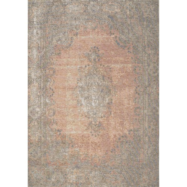 Constancia Salmon/Gray Area Rug by Bungalow Rose