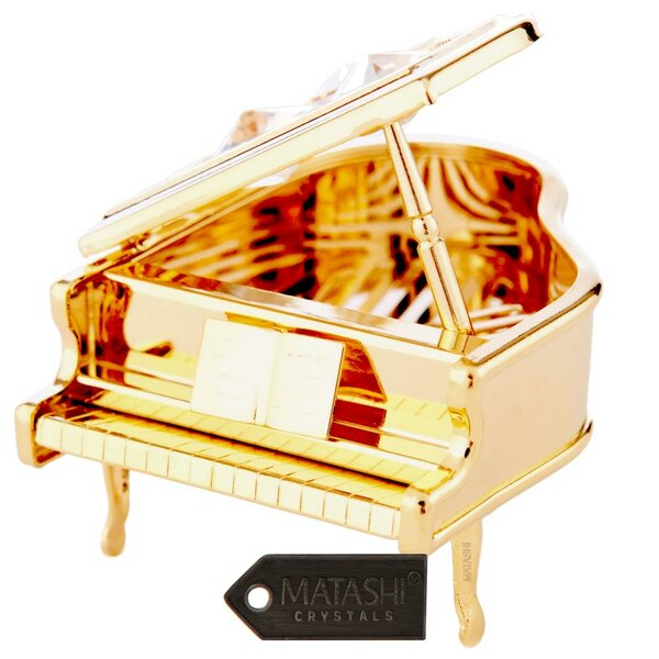 Grand Piano Ornament by Matashi Crystal