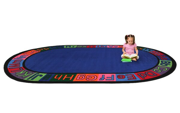 Alpha Circle Time ABC Blue Area Rug by Kid Carpet