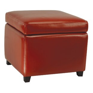 Comparison Jonathan Leather Storage Ottoman By Safavieh