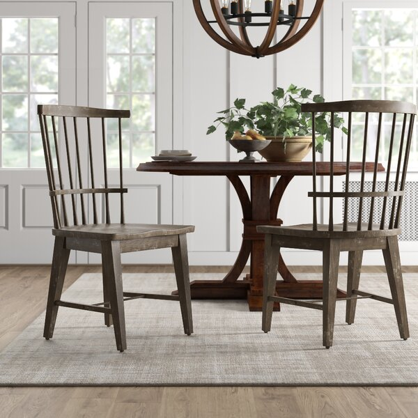 Onida Solid Wood Windsor Back Side Chair In Charcoal By Birch Lane�?� Heritage