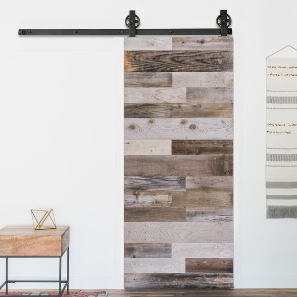 Solid Panelled Wood Interior Barn Door by Artisan Hardware
