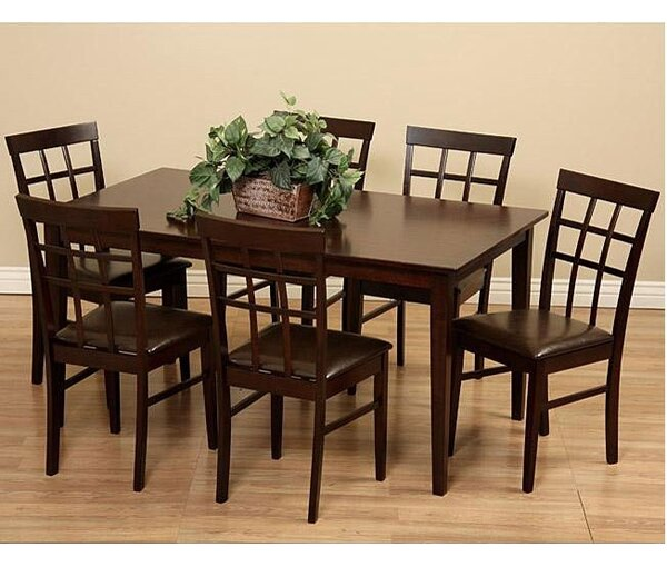 Justin 7 Piece Solid Wood Dining Set by Warehouse of Tiffany