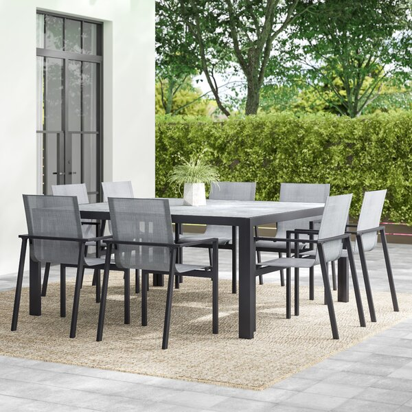 Elick 9 Piece Dining Set by Greyleigh