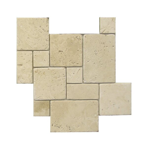 Tumbled Natural Stone Mosaic Tile in Brown by QDI Surfaces