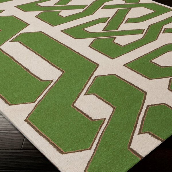 Alameda Green & Ivory Area Rug by Beth Lacefield for Surya