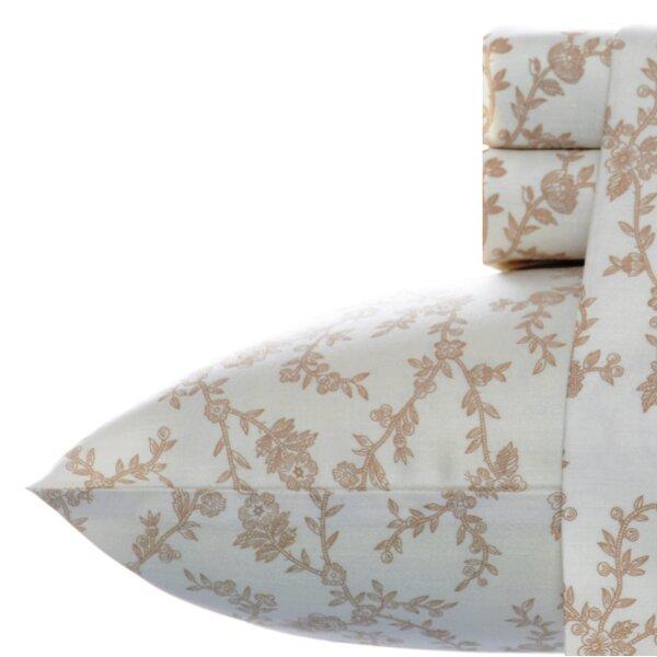 Victoria 300 Thread Count Cotton Sateen Sheet Set by Laura Ashley Home by Laura Ashley Home