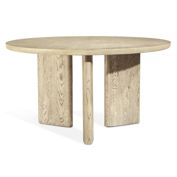 Infinity Solid Oak Dining Table by Interlude