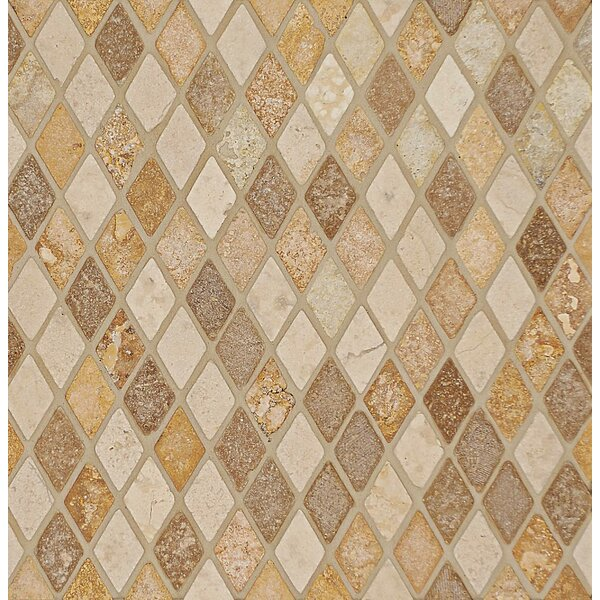 1 x 1.75 Travertine Mosaic Tile in Beige by Bedrosians