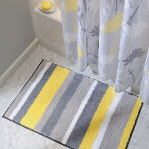 Yellow Gold Bath Rugs Mats Youll Love Wayfair - Loop bath rug for bathroom decorating ideas