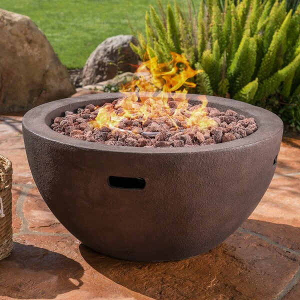 Poojari Concrete Propane Fire Pit By Red Barrel Studio.