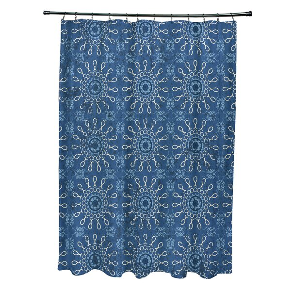 Soluri Sun Tile Print Shower Curtain by Bungalow Rose