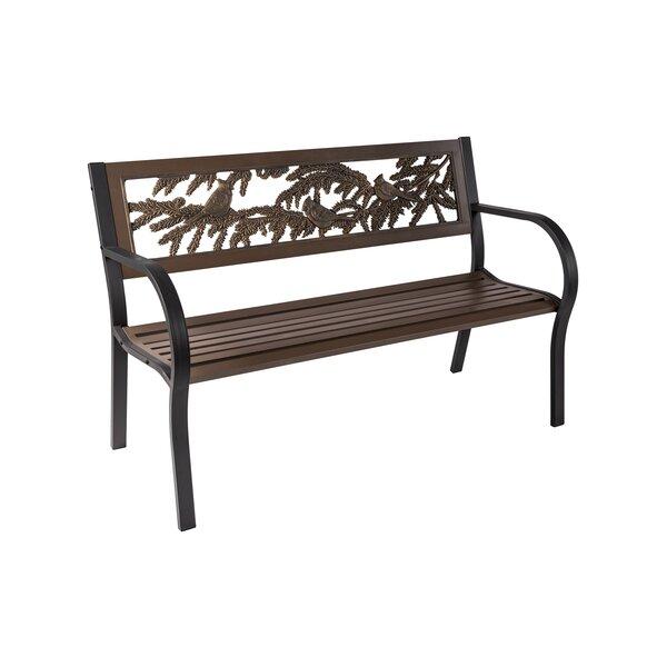Coffman Tube Steel Park Bench by Rosalind Wheeler