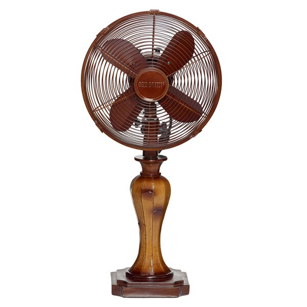 Brentwood 10 Oscillating Table Fan by Fleur De Lis Living