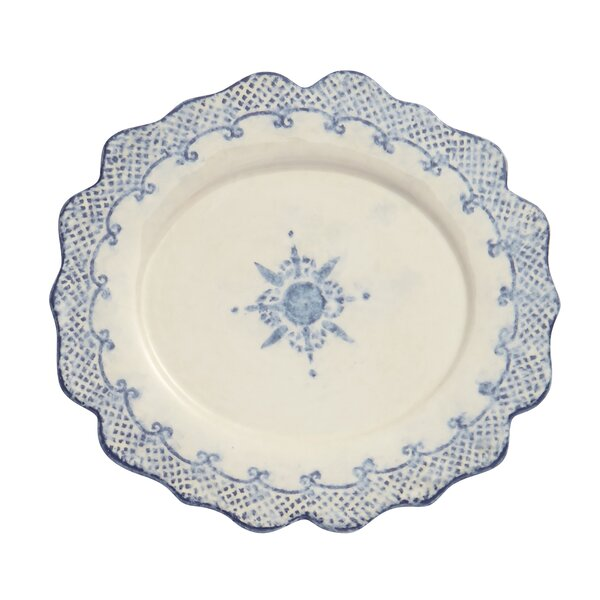 Burano Oval Scalloped Platter by Arte Italica