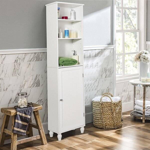 Harrigan 15'' W x 63.5'' H x 9'' D Linen Cabinet