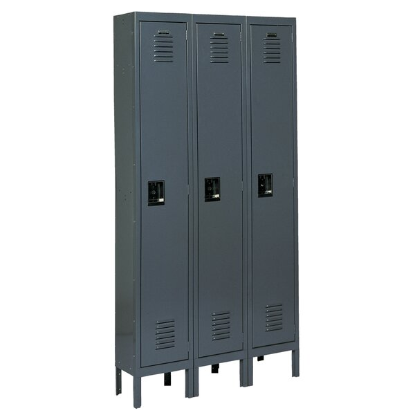 1 Tier 3 Wide School Locker by Edsal-Sandusky