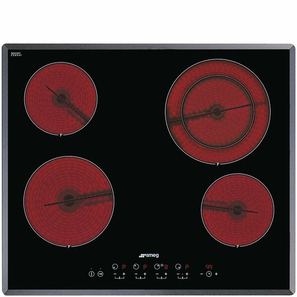 24 Electric Cooktop with 4 Burners by SMEG