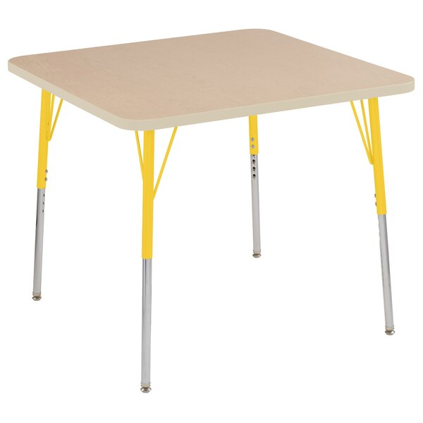 Maple Top Thermo-Fused Adjustable 36 Activity Table by ECR4kids
