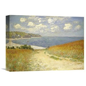 'Path Through the Wheat Fields at Pourville, 1882' by Claude Monet Painting Print on Wrapped Canvas by Global Gallery