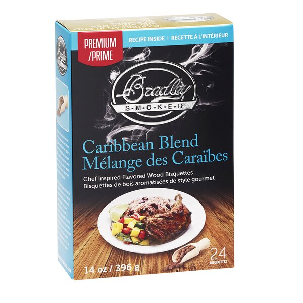 Premium Caribbean Blend Bisquettes (Set of 24) by Bradley Smoker