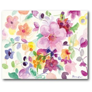 Watercolor Dreamy Flowers II Painting Print on Wrapped Canvas by Courtside Market