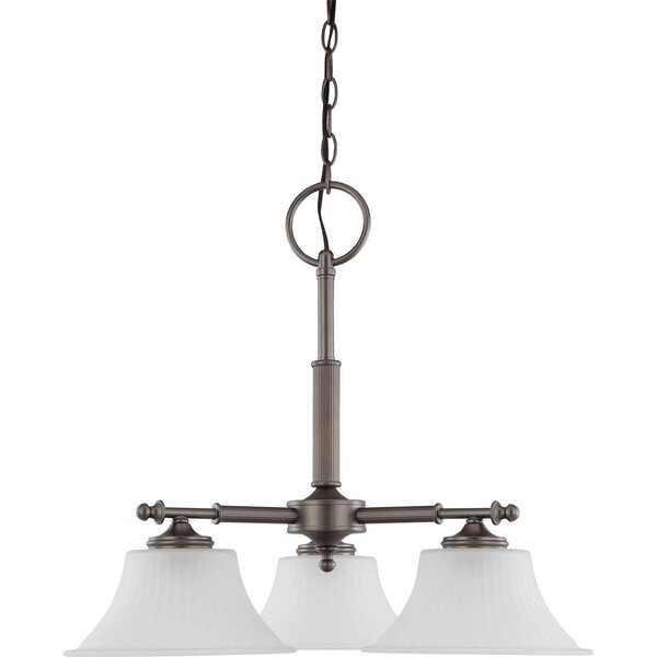 Hinde 3 - Light Shaded Classic / Traditional Chandelier By Charlton Home