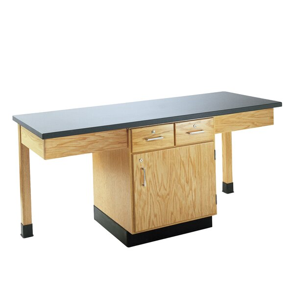 2 Station Workstation by Diversified Woodcrafts
