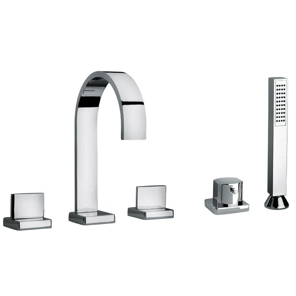 J15 Bath Series Deck Mounted Roman Tub Faucet with Diverter and Handshower by Jewel Faucets Jewel Faucets