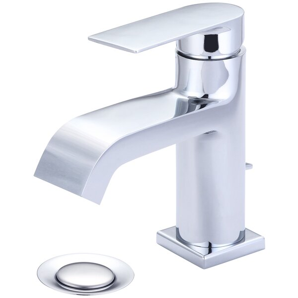 I4 Handle Lavatory Single Hole Bathroom Faucet  With Drain Assembly By Olympia Faucets