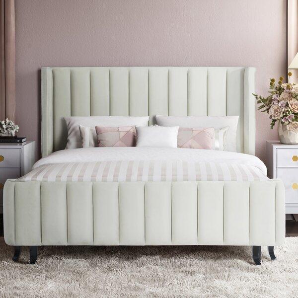 Meisha King Upholstered Platform Bed by Orren Ellis