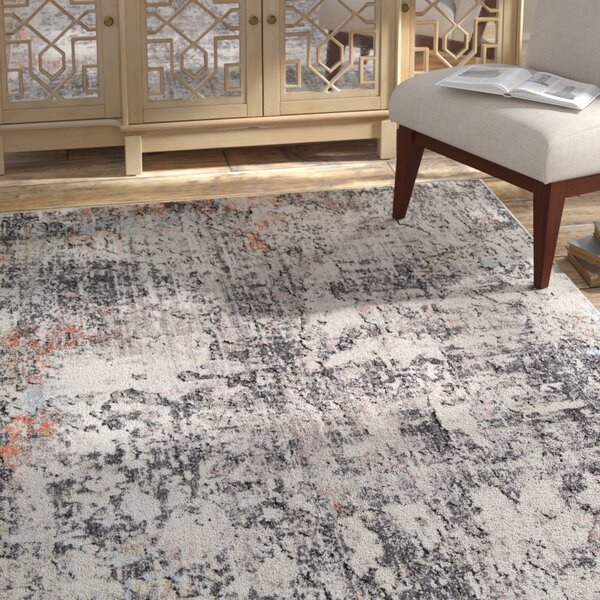 Warden Ivory/Granite Area Rug by Bungalow Rose