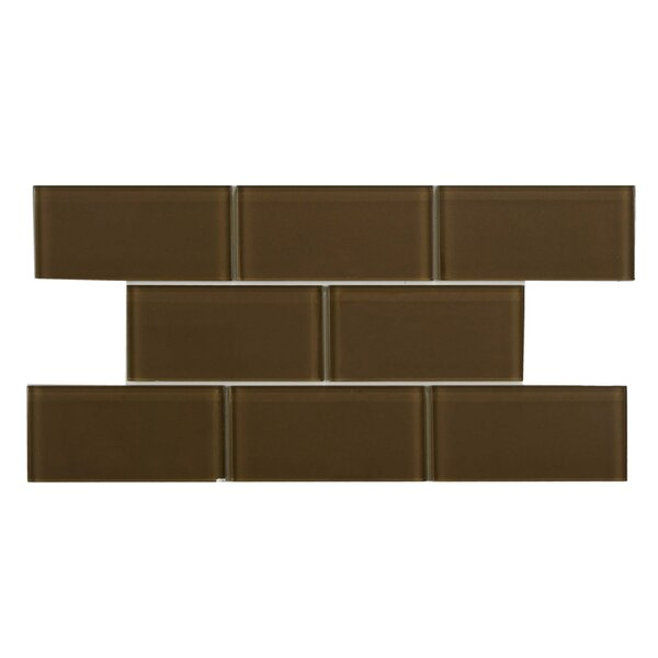 Sierra 3 x 6 Glass Subway Tile in Earth by EliteTile