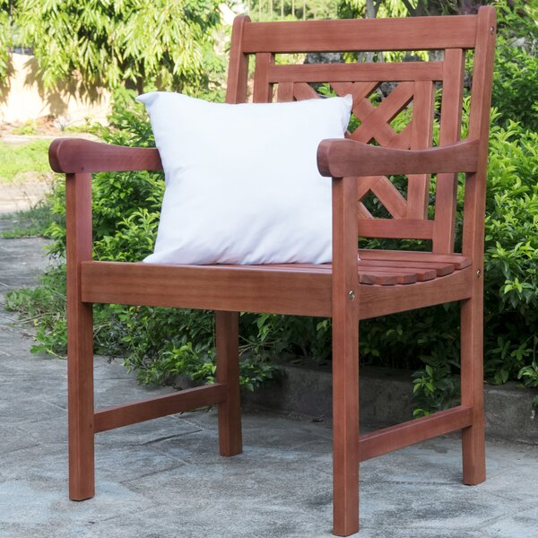 Amabel Plaid Patio Dining Chair by Beachcrest Home