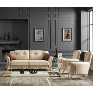 Ewen 3 Piece Sleeper Configurable Living Room Set by Rosdorf Park