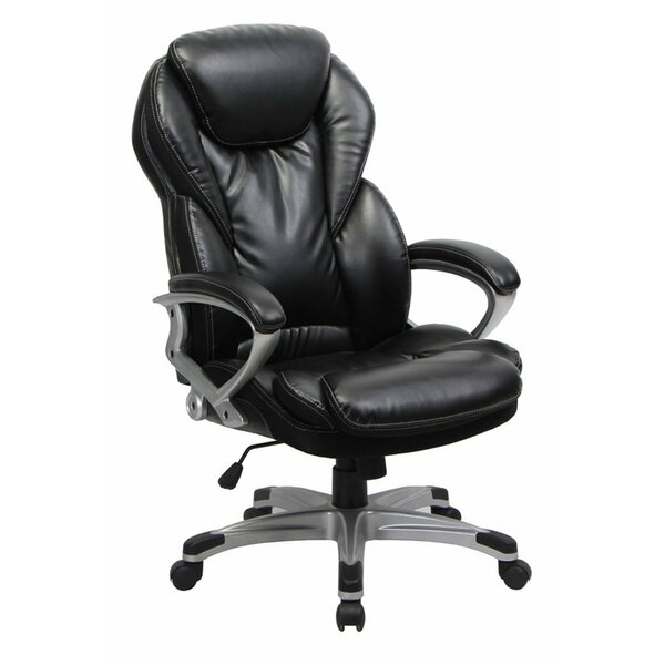 Lach Genuine Leather Executive Chair by Symple Stuff