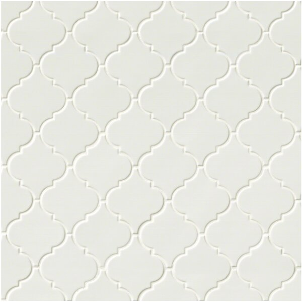 Arabesque Ceramic Mosaic Tile in Whisper White by MSI