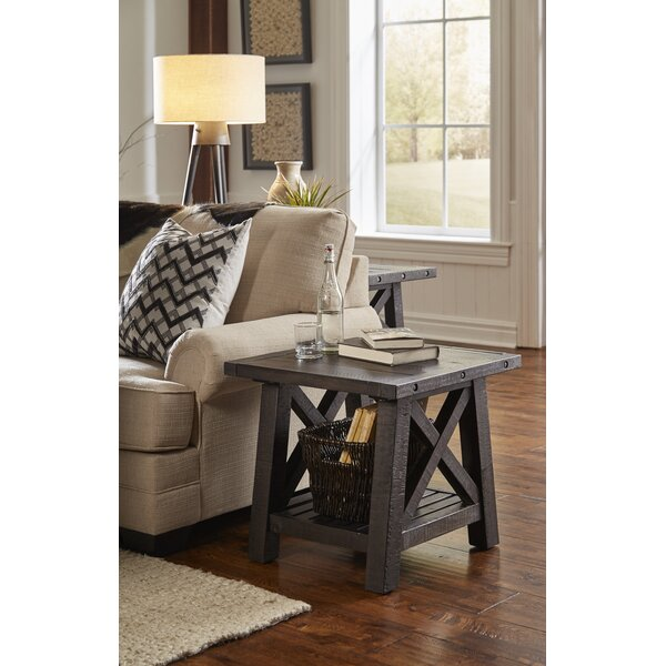 Langsa Solid Wood End Table By Laurel Foundry Modern Farmhouse