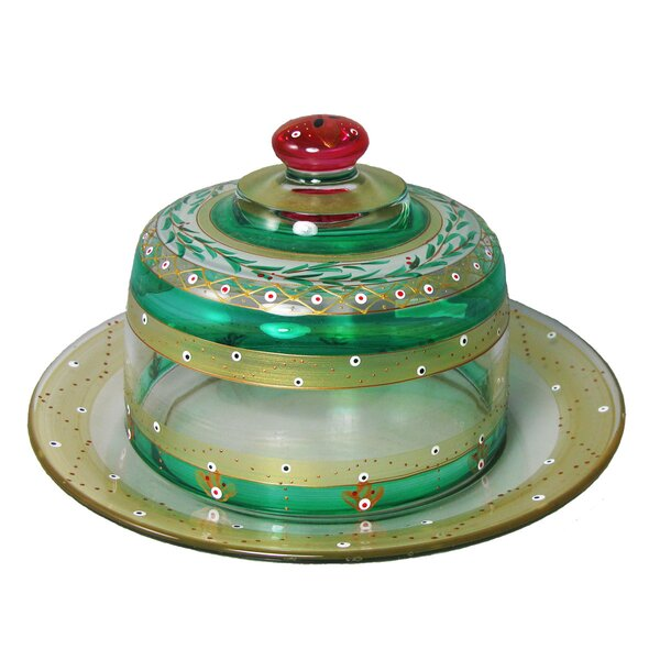 Christmas Garland Cheese Cake Stand by Golden Hill