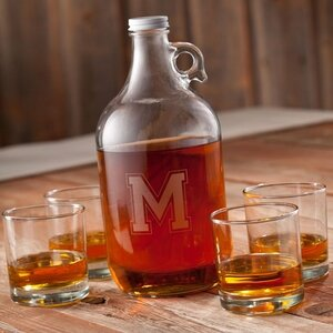 Personalized Gift Whiskey 5-Piece Growler Set by JDS Personalized Gifts