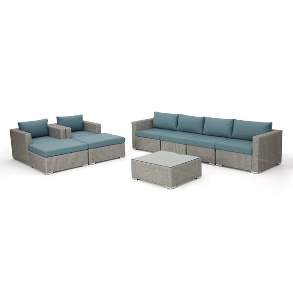 Cabral 9 Piece Sectional Seating Group with Cushions by Sol 72 Outdoor