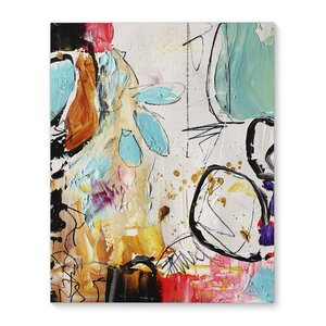 'Abstract School Daze' Print on Canvas by Latitude Run