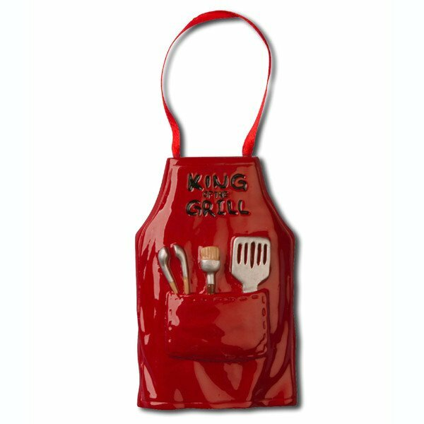 Hobbies and Activities King of the Grill Apron Hanging Figurine by Personalized by Santa