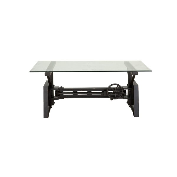 Kushner Industrial Rectangular Mechanical Coffee Table by Williston Forge