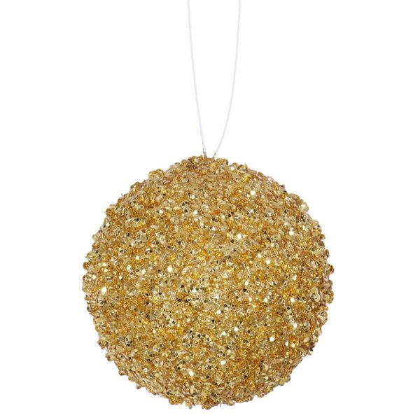 Glitter Drenched Christmas Ball Ornament (Set of 4) by The Holiday Aisle